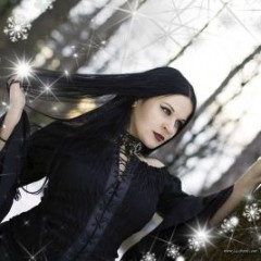 Plam Chelavrova: Dark Angel in the Snowy Forest [GALLERY]