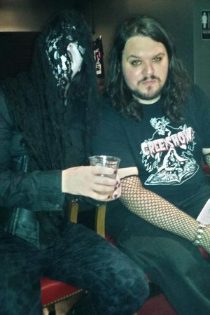 Me (right) hanging out with Skot Shaw (left) to chat.
