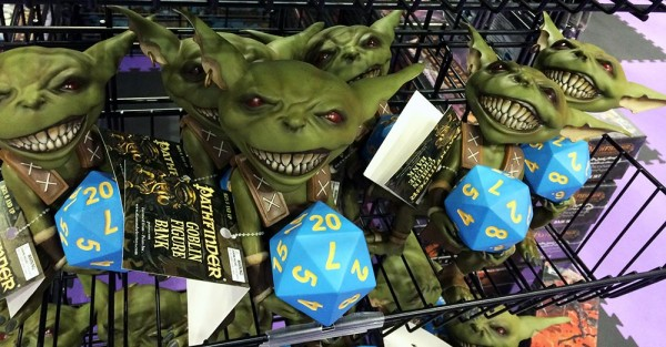 From RPGs in tabletop and card format to these adorable Goblin banks, Pathfinder has something for everyone.
