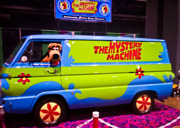 Even the cartoon paranormal is represented, like this exact replica Mystery Machine from Scooby-Doo.