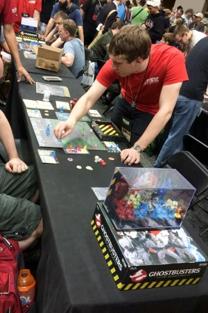 The beta of the Ghostbusters game in play.