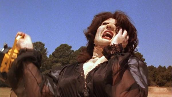 """Robert Jacks as """"Leatherface"""" in drag"""
