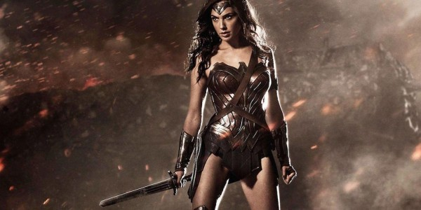 Wonder Woman (played by Gal Gadot) is a demigod warrior trained by the god of War.