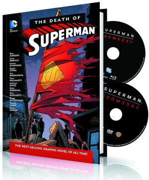 Death of Superman Book & DVD Cover