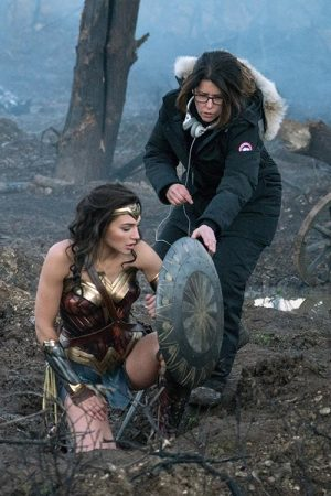 Jenkins' directing star, Gadot, in battle in Wonder Woman.