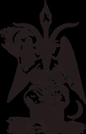 Baphomet - a deity associated with Satanism.